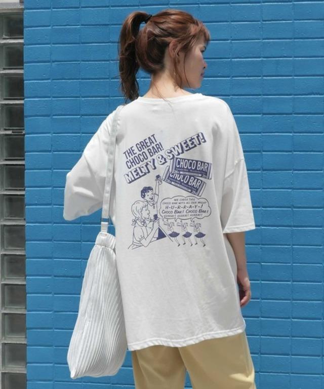 フレーフレーチョコバープリントビッグTシャツ