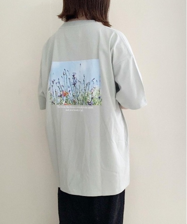 Flower/art グラフィックカットソー ファッションインフルエンサー uki×anown 限定コラボ