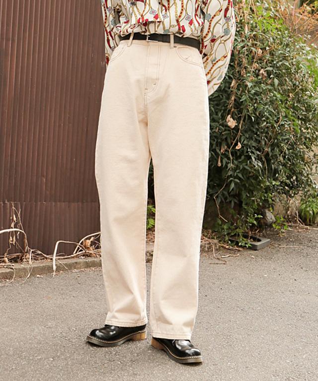 【低身長向けXSサイズあり】ハイウエストストレートデニムパンツ