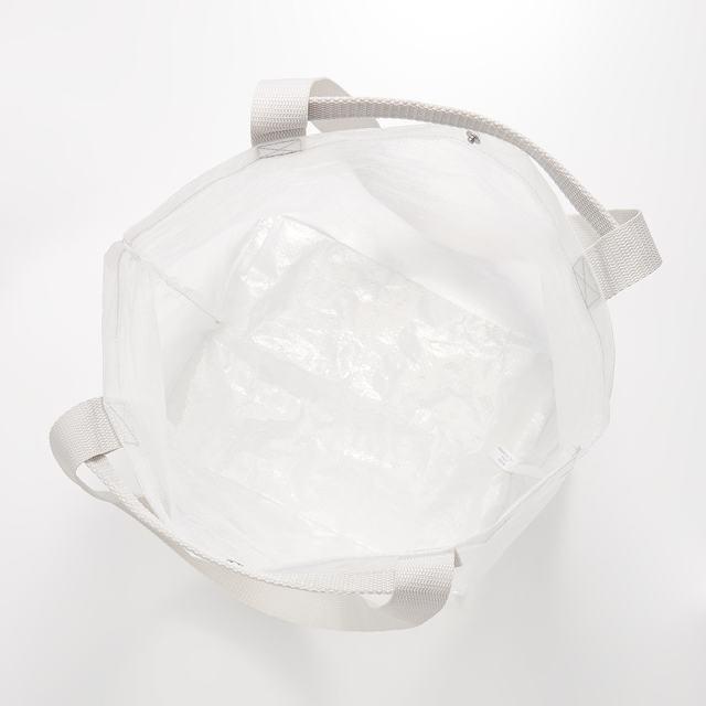 ポリエチレンシート・ミニトートバッグ 約45×26×19cm・半透明