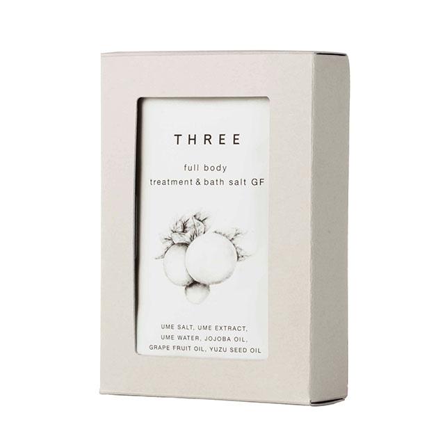THREE フルボディトリートメント&バスソルト(グレープフルーツ) 40g×7包