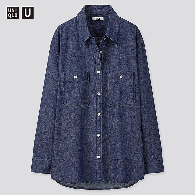 デニムオーバーサイズシャツ(長袖)