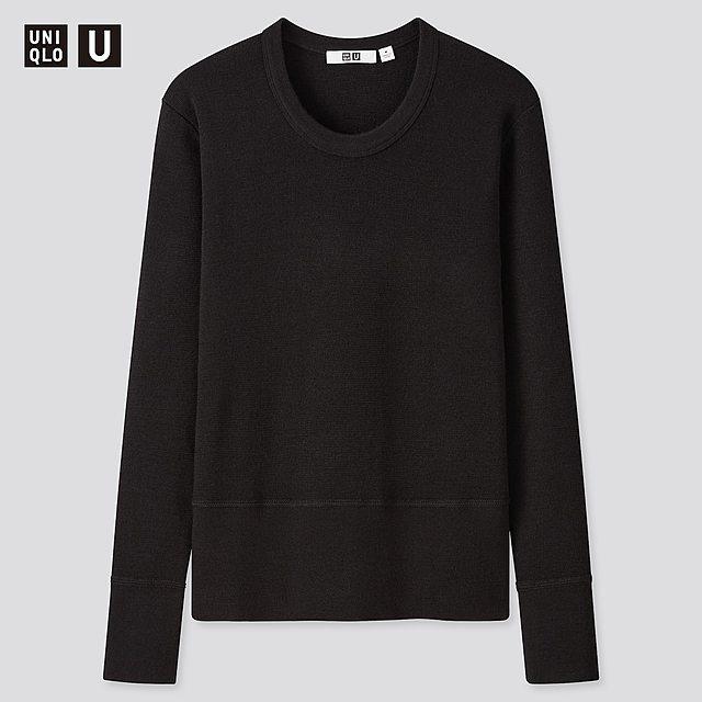 メリノブレンドクルーネックセーター(長袖)