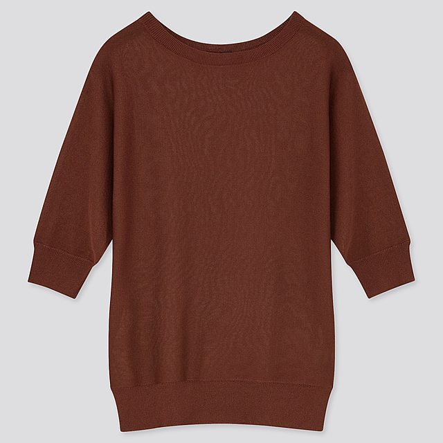 ライトシアーボートネックセーター