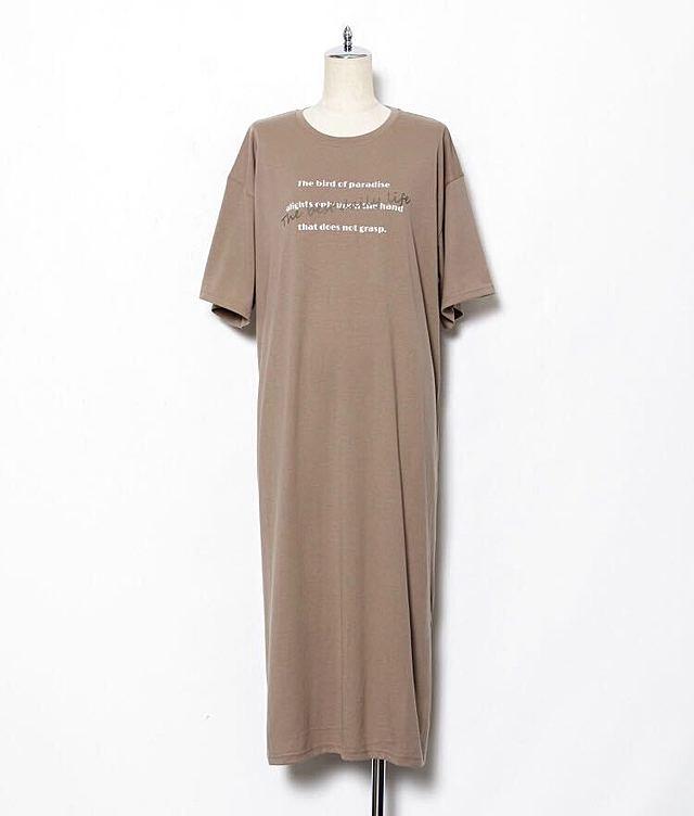 巾着BAGとロゴTシャツワンピース