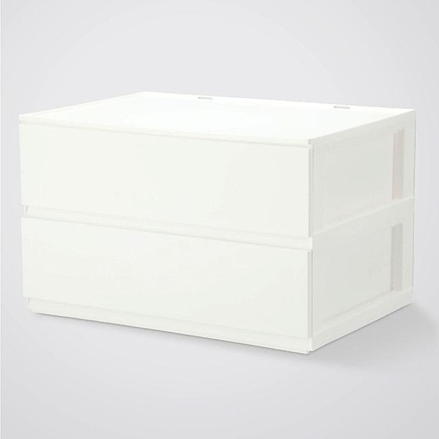 引出し Nインボックス レギュラー 2段/引出し2個(WH)