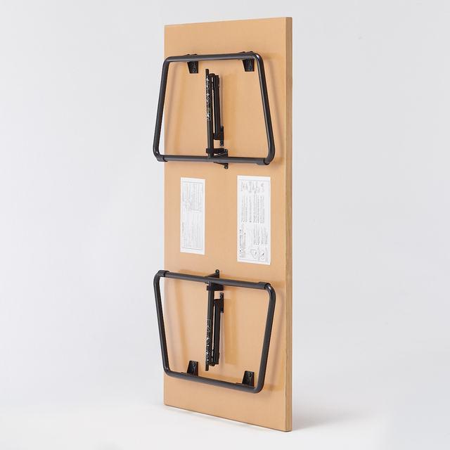折りたたみローテーブル・幅120cm・オーク材 幅120×奥行70×高さ35cm