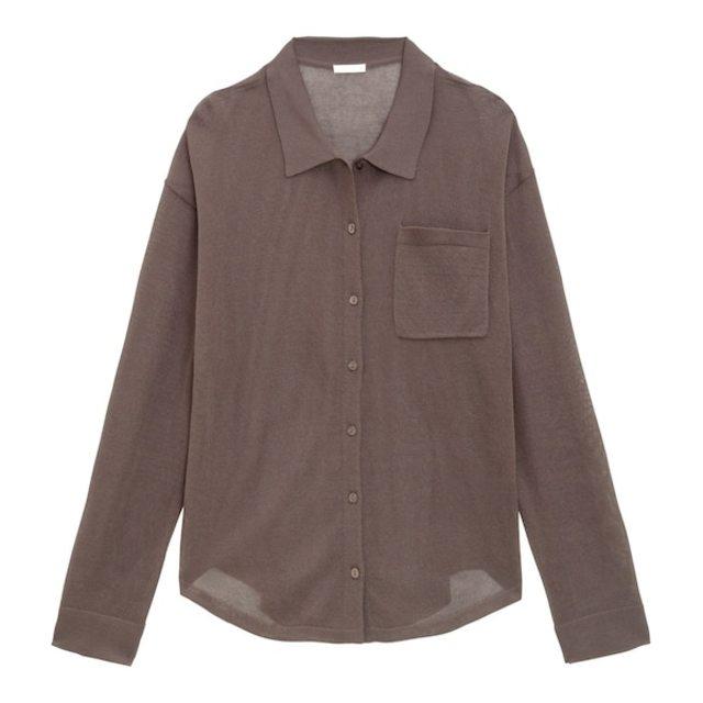 シアーニットシャツ(長袖)+E