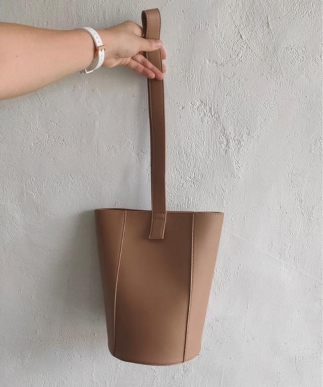Lether Bucket Bag