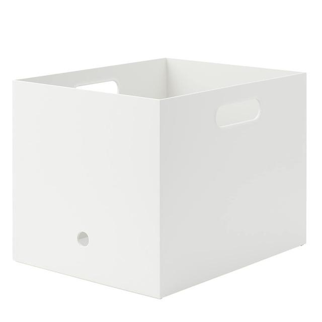 ポリプロピレンファイルボックススタンダード・幅25cmタイプ 約奥行32×高さ24cmホワイトグレー