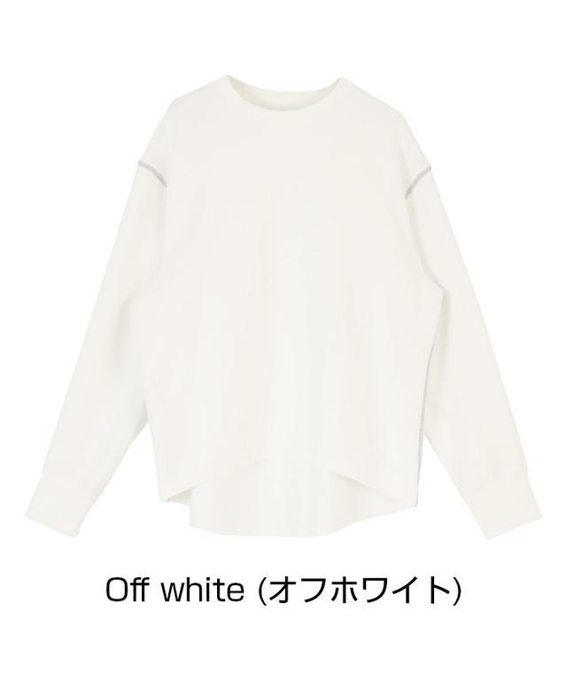 デザインステッチ長袖Tシャツ