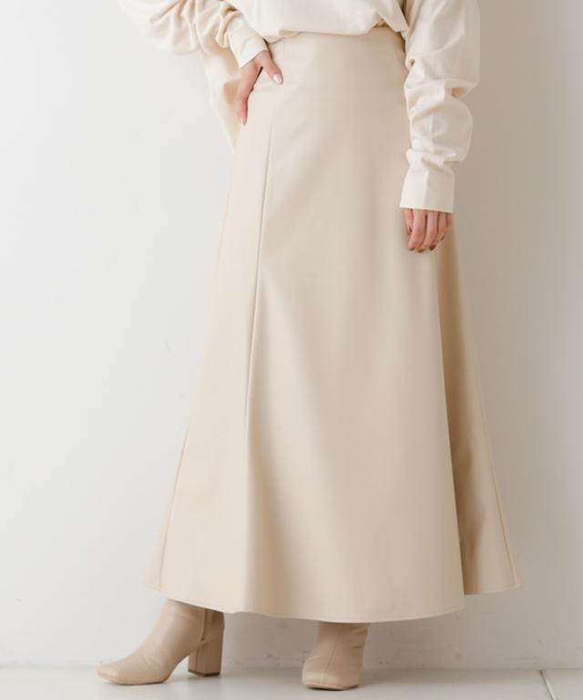 レザーロングフレアスカート