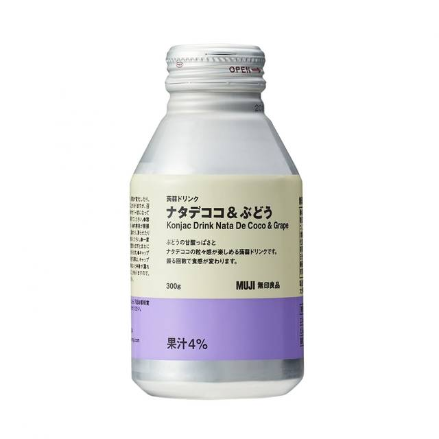 蒟蒻ドリンク ナタデココ&ぶどう 300g
