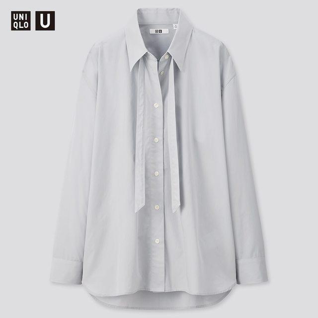 オーバーサイズボウタイシャツ(長袖)