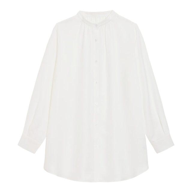 バンドカラーロングシャツ(長袖)