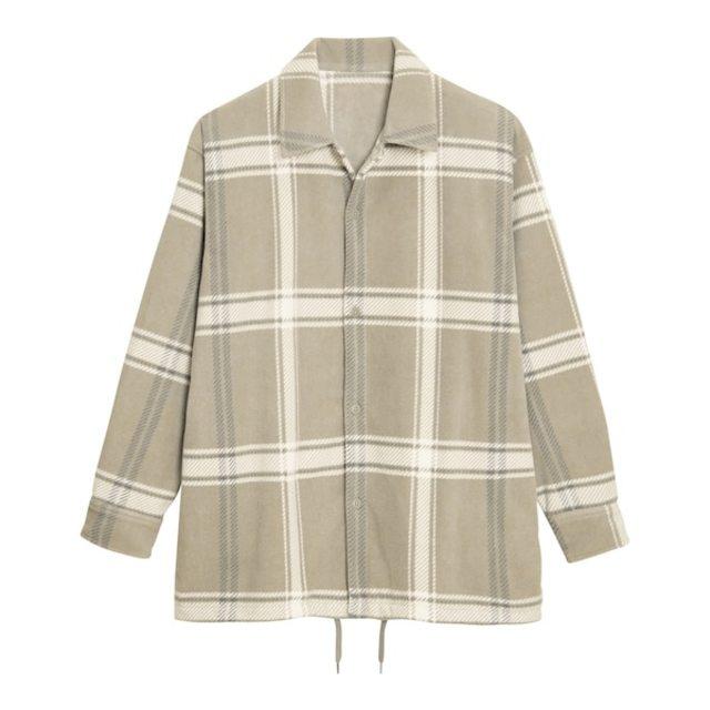 フリースチェックオーバーサイズシャツ