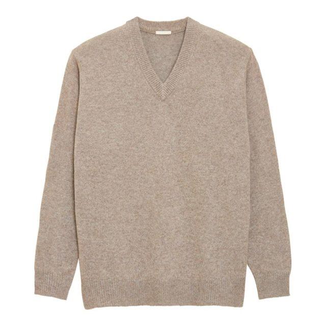 ソフトラムブレンドVネックセーター