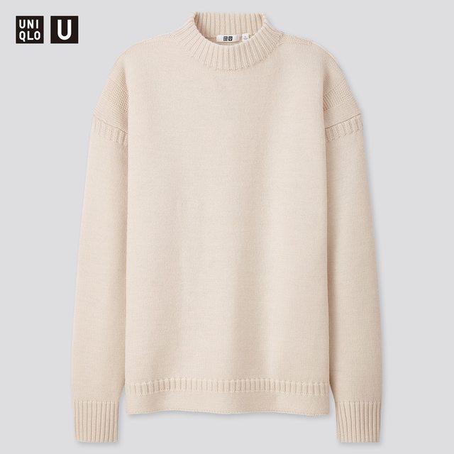 ミドルゲージモックネックセーター<メンズ>