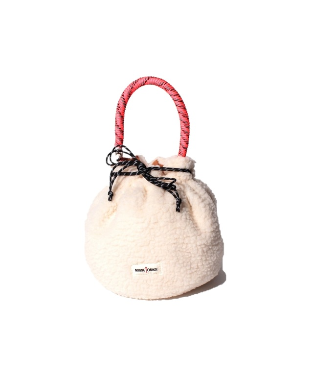 MT FAKE MOUTON DRAWSTRING BAG