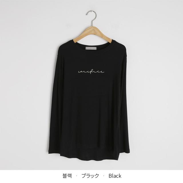 ラウンドレタリングTシャツ