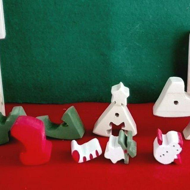 クリスマスツリーの組み木 ミンネのクリスマス