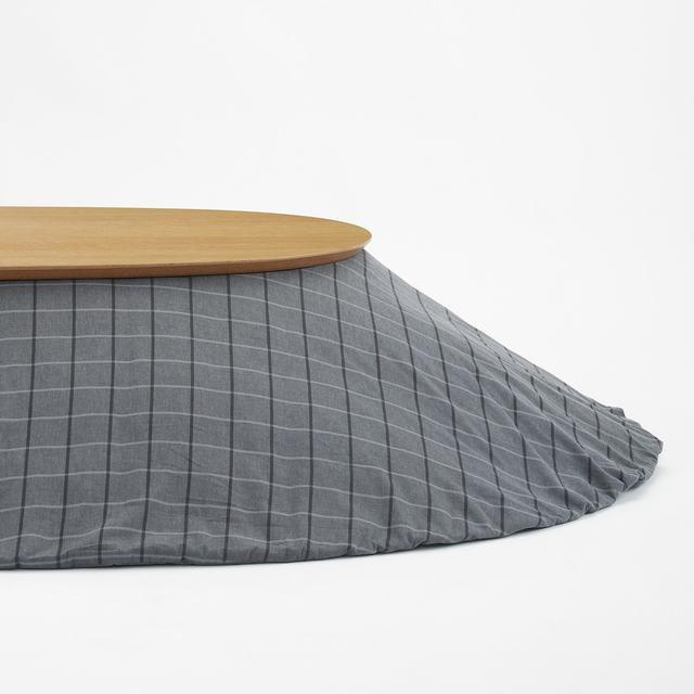綿フランネルこたつふとん・収納ポケット付き・楕円形