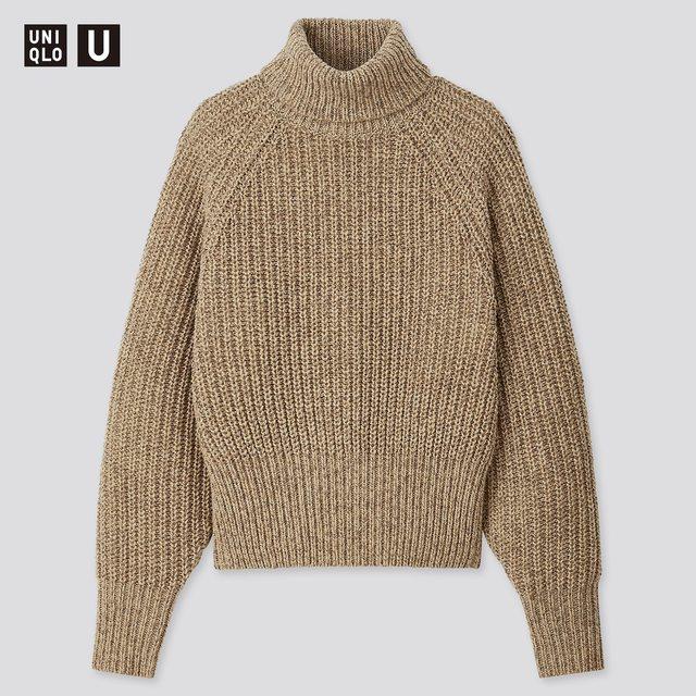 ローゲージタートルネックセーター(長袖)