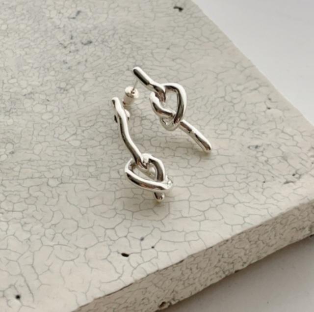 knot pierce/earring silver