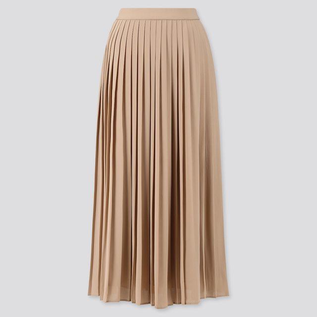 シフォンプリーツロングスカート(丈標準80~84cm)
