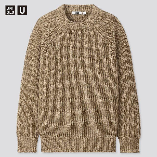 ライトウェイトローゲージクルーネックセーター