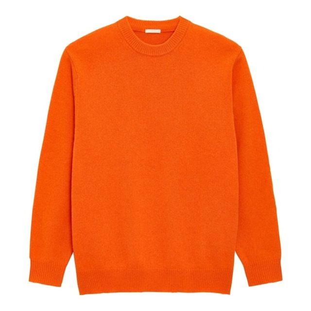 ソフトラムブレンドクルーネックセーター(長袖)