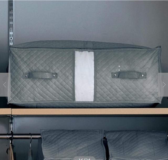 防ダニ・抗菌・防カビ機能が続くクローゼットぴったり布団収納袋 グレー(中)