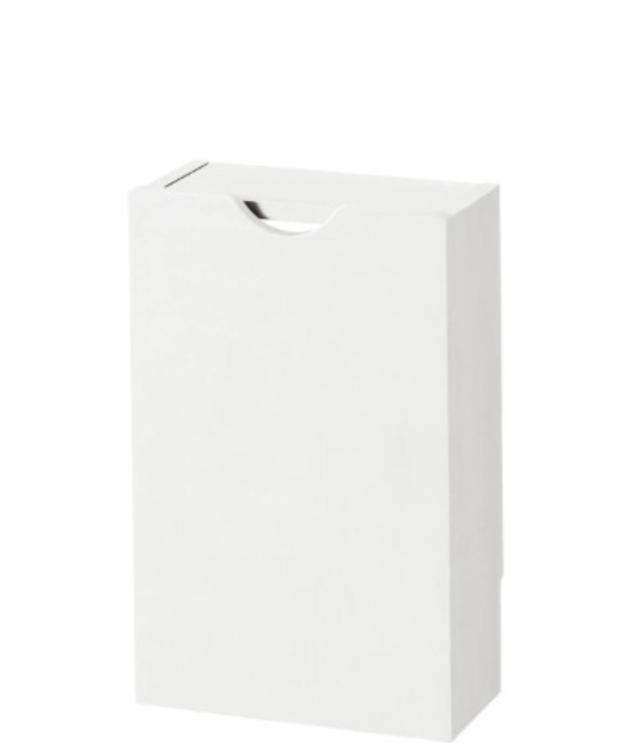 電源タップも収納できるルーター収納ボックス ホワイト/スリム