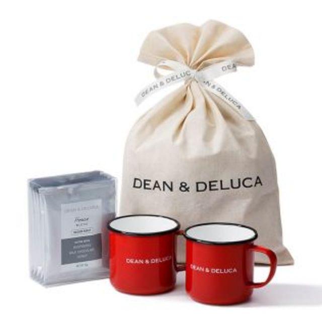 【オンラインストア限定】DEAN & DELUCA ホーローマグレッド&コーヒーギフト