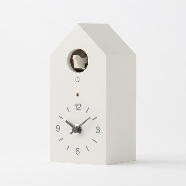 鳩時計 掛置時計・ホワイト