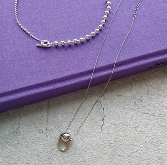 long design necklace silver925