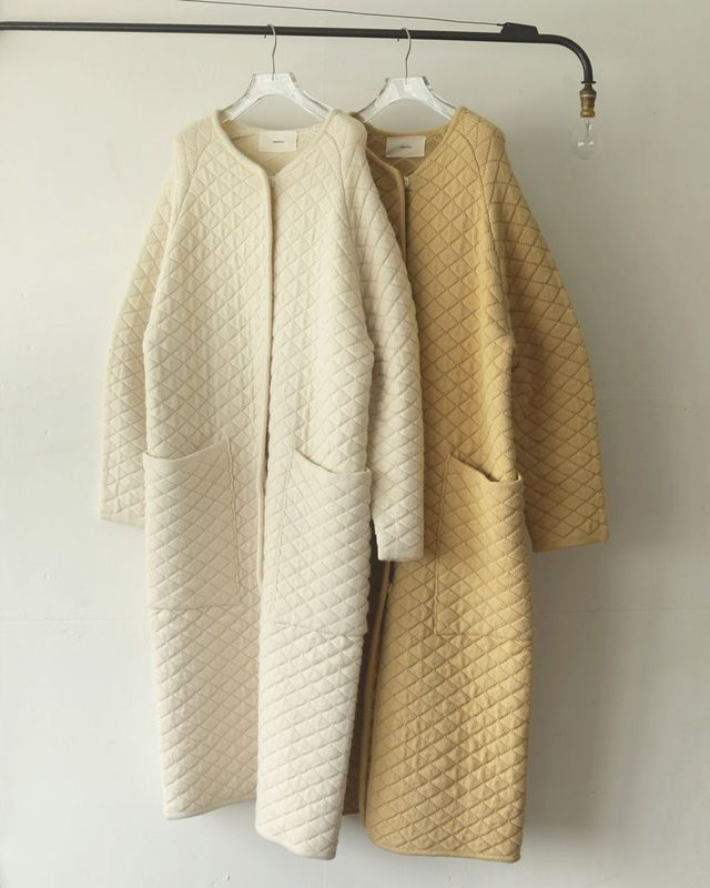 Quilting Knit Coat