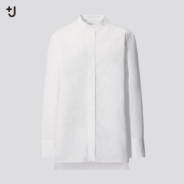 スーピマコットンスタンドカラーシャツ(長袖)