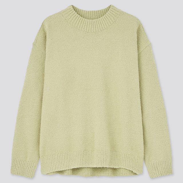 フラッフィソフトモックネックセーター