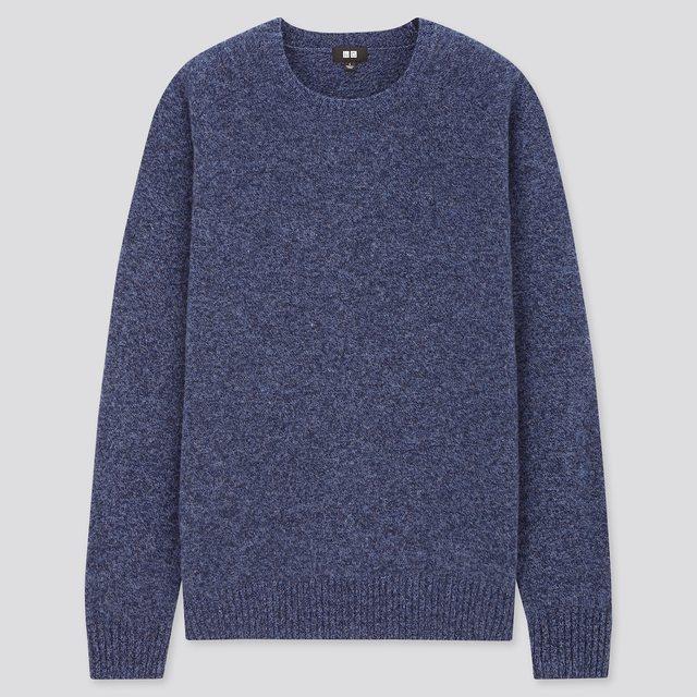MEN プレミアムラムクルーネックセーター
