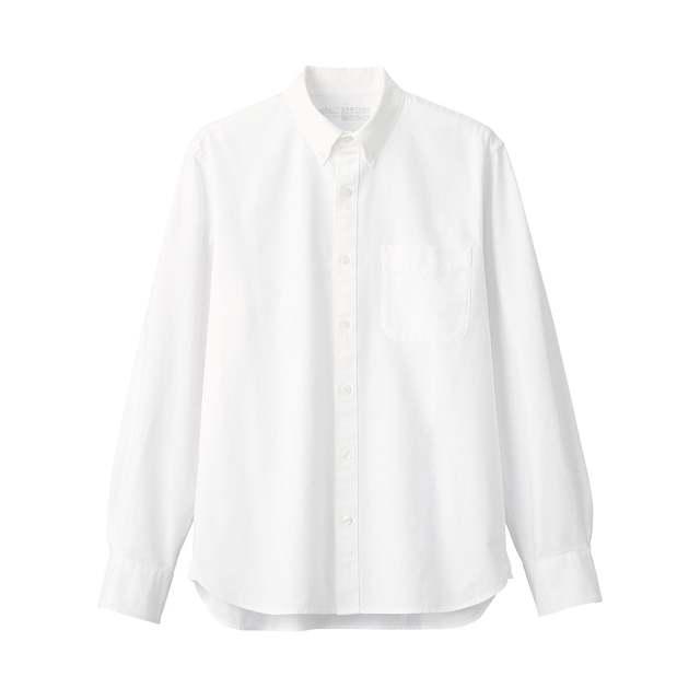 洗いざらしオックスボタンダウンシャツ 紳士M