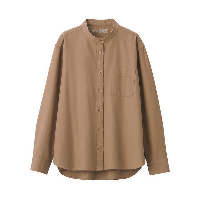 洗いざらしオックススタンドカラーシャツ 婦人XL