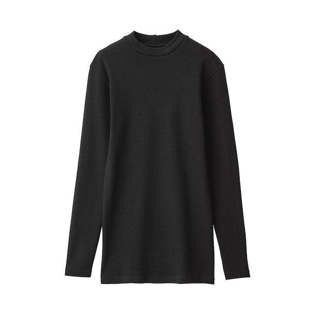 綿とウールで真冬もあったかハイネック長袖Tシャツ