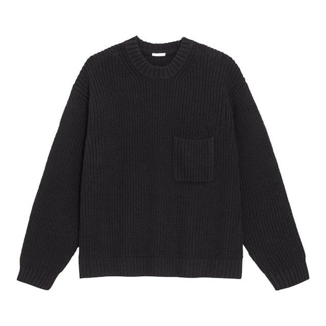 ローゲージワイドフィットクルーネックセーター