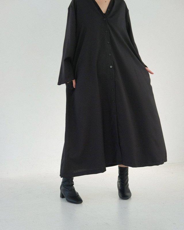 TUCK DRAPE DRESS
