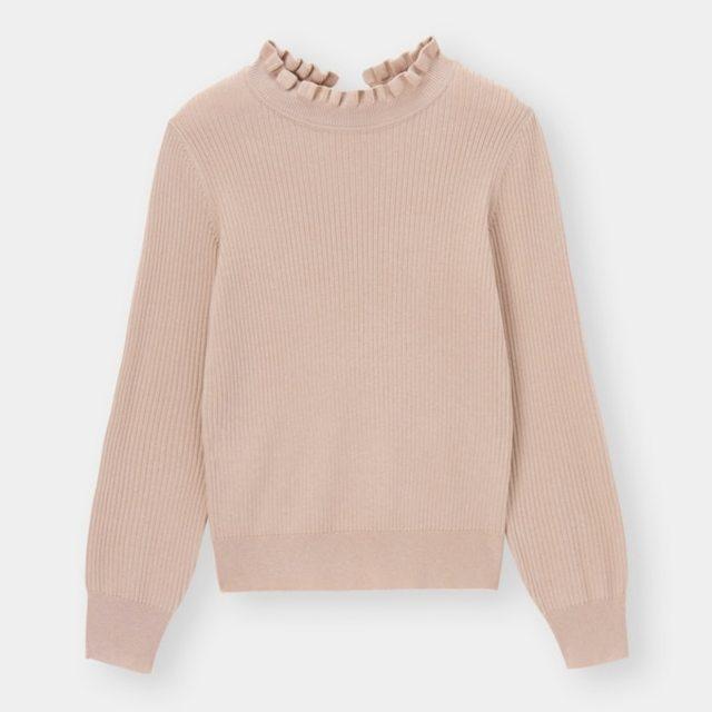 フリルネックセーター(長袖)