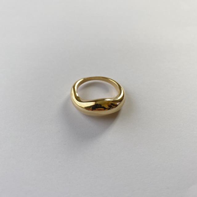 Ellipse ring gold