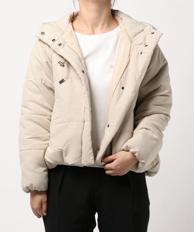 エステルピーチ中綿バルーンショートジャケット