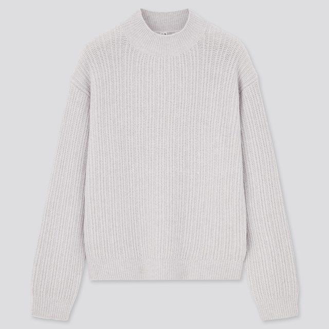 ライトスフレヤーンモックネックセーター(長袖)
