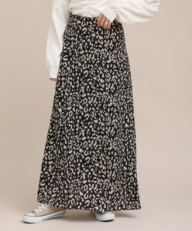 レオパードフレアロングスカート